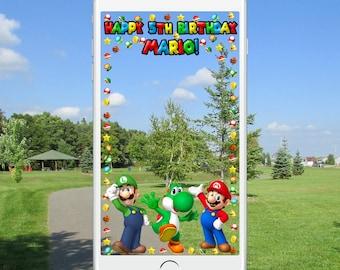 Super Mario Snapchat Geofilter
