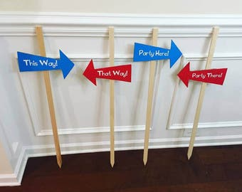 Dr. Seuss Themed Party Yard Signs
