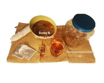 Kombucha Brewing Kit with Scoby Complete Kit Kombucha Drink