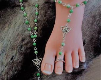 Barefoot sandals Green