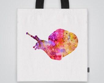 Snail Bag Shoulder Bag Market Bag Art Print