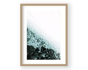 Ocean Art Print, Waves, Water, Coastal Wall Decor, Large Poster, Modern Minimalist, Turquoise Blue, Ocean Waves Print, Beach Decor
