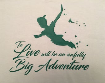Big Adventure Green Letters T-Shirt (Made To Order)