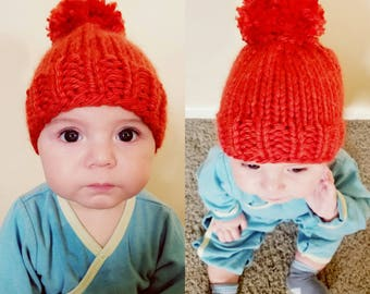 Infant/Toddler Pom-Pom Hat