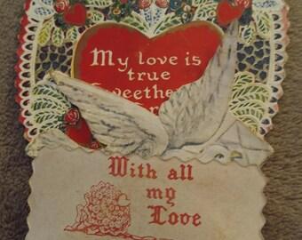 Heart and Dove Victorian Valentine