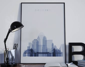 cincinnati art watercolor cincinnati wall art cincinnati poster wall decor cincinnati print home decor cincinnati photo - Home Decor Cincinnati