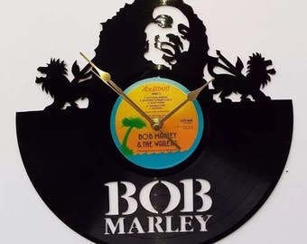 Bob Marley vinyl record wall clock, vintage record, classic Iconic legend legendary cover, retro clock, old school pop rock and roll reggae