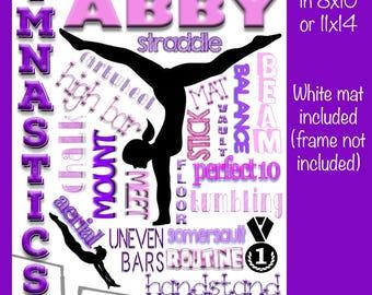 Personalized Gymnastics Collage - Female