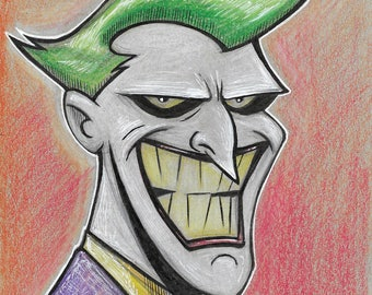 Joker cartoon illustration
