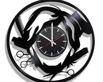 Barbershop wall clock with original design