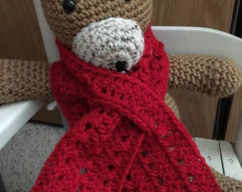 Red Child's Scarf
