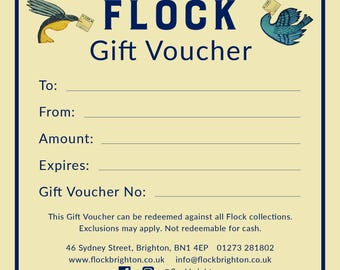 Flock Gift Voucher to the value of 25 pounds GBP
