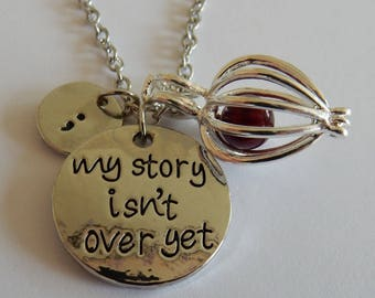 My Story Isn't Over Yet Semicolon with Pearl