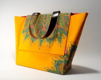 African Wax Print Handbag