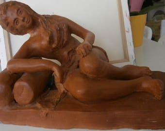 Very beautiful clay sculpture, Hand made