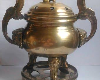 The antique bronze burn incense to the 19th century / Антикварная бронзовая курительница для благовоний 19 век