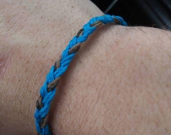 Hand woven hemp bracelet