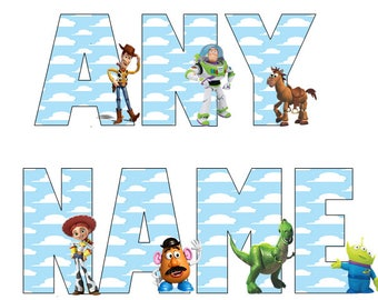 Toy Story T-shirt,Toy Story Shirt,Custom Toy Story Shirt,Girl's T-shirt,Boy's Shirt,Woody shirt,Buzz lightyear shirt,Any Name or text.