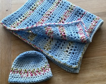 Baby blanket and matching hat