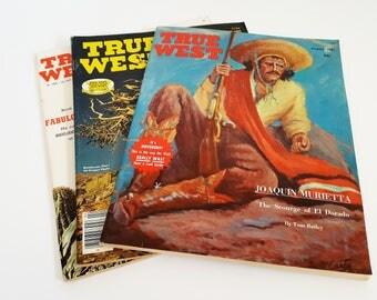True West Magazine Lot of 3 Vintage Western Magazines Vintage Ephemera Cowboy Magazines