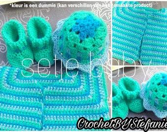 Fun crochet set for a baby under 6 months