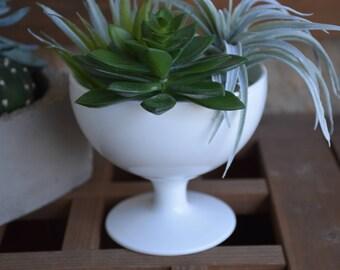 Vintage Milk Glass Pedestal Compote