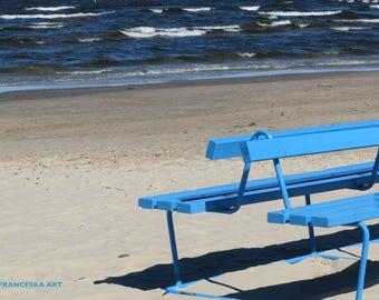 "Photo ""Bench"", digital, photography, sea, sand, bench"