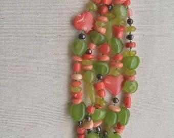 Natural semiprecious stones bracelet