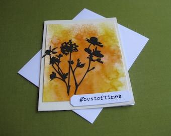 Handmade  Card Wildflowers - #bestoftimes