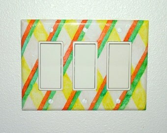 Triple Light Switch Plate