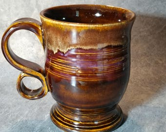 14oz Handcrafted Comfy Loop wheel thrown stoneware Pottery Coffee Mug