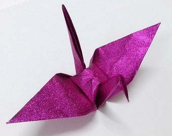 Large Pink Origami Cranes ** 100 pcs
