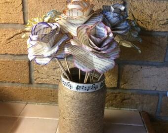 Handmade Book Paper Roses