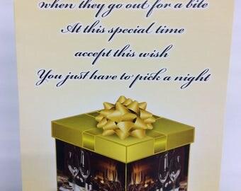 Restaurant, gift card holder. SET OF 4. Birthday gift card holder. Anniversary gift card holder. Holiday gift card holder. Any occasion.