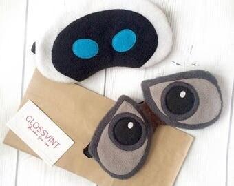 Sleep masks WALL-E and EVE, DISNEY, Robots, Best Gift, His and Hers, Couple Sleep masks, Eye Mask, Sleeping mask, Sleep mask