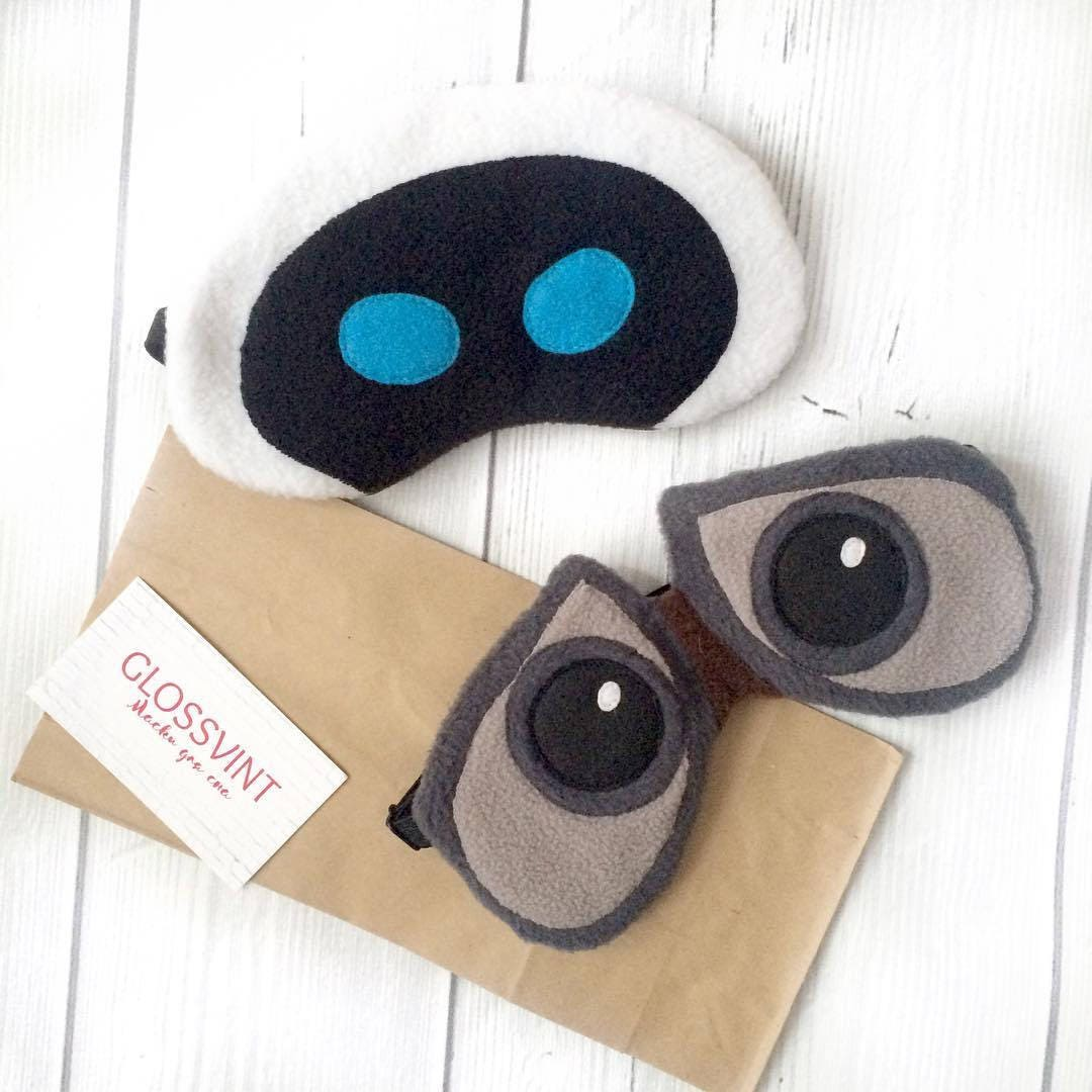 Uncategorized Wall-e Mask wall e and eva couple sleep masks robots his hers eye mask
