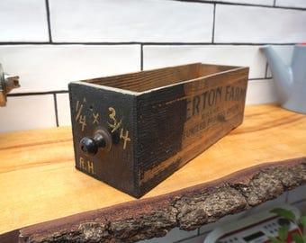 Vintage Wooden Cheese Box - Storage Box - Allerton Farm Cheese