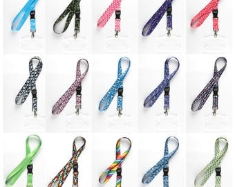 Rolseley full colour Lanyards neck straps with different patterns + clear plastic ID holder