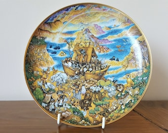 Noah's Ark Two By Two by Bill Bell decorative plate (Franklin Mint Heirloom Limited Edition)