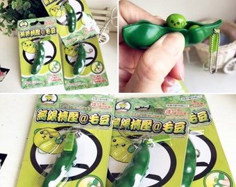 Green Bean Squeeze Toy