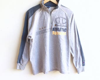 Vintage 90's CHAMPION small logo sweatshirt gray colour medium size