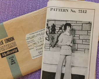 1970's Ladies Trouser Suit from Lillie London Patterns - Size 12