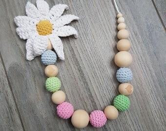feeding & teething necklace spring