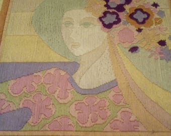 """""""The flower woman"""" tapestry of Ducau, made hands"""