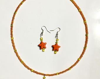 Starburst necklace/earring set