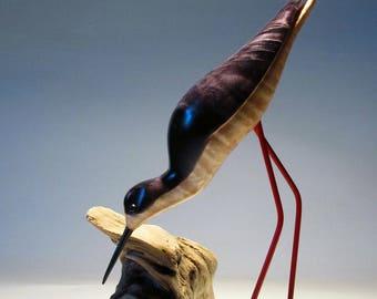 Bird Carving, Stilt, Shorebird