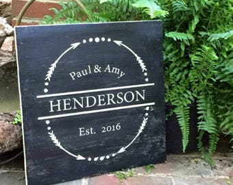 Rustic Wooden Sign Wedding or Anniversary