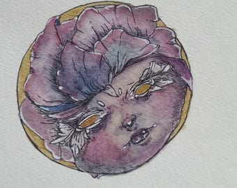 Purple Bloom - Original Watercolor Painting