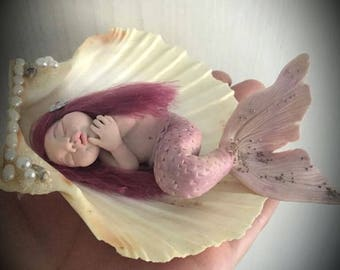 "OOAK mermaid baby ""Pegghy""-art doll by Dumanartcreation"