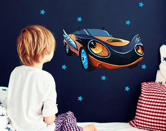 Wall decals wall sticker car racing M2061